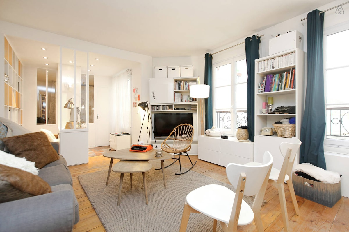 Lovely flat on Canal St Martin