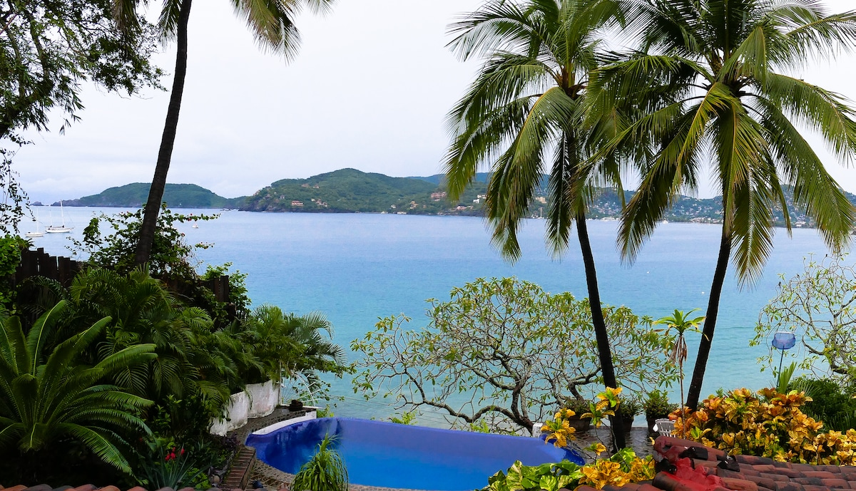 View of Zihuatanejo Bay from our patio