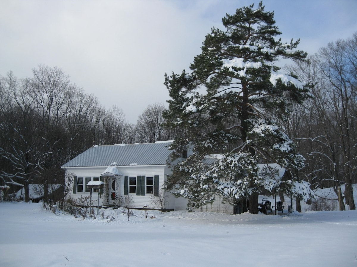 An early snow at Breeze Hill Cottage!