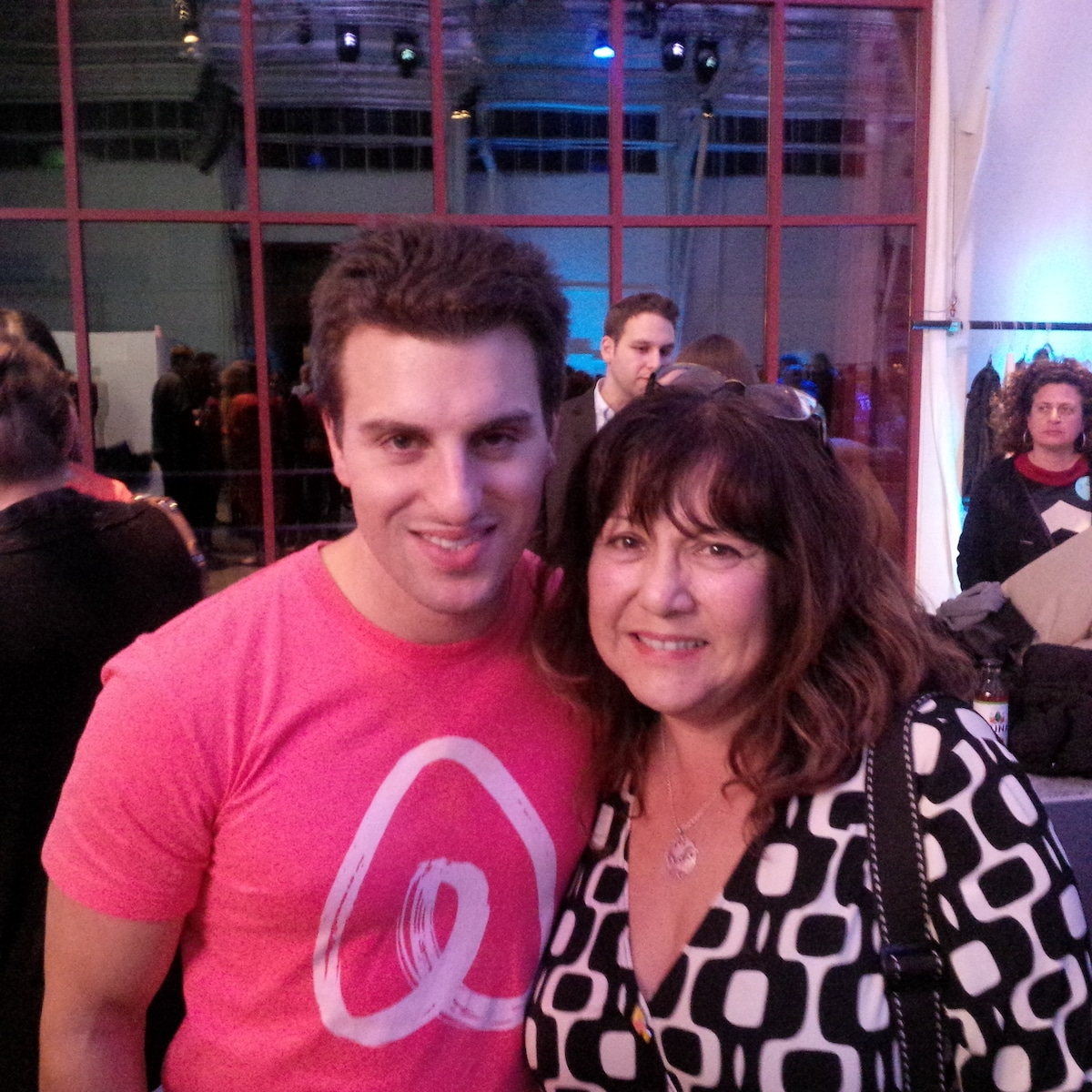 Your host, Mari, with Airbnb founder Brian Chesky, at the first annual Airbnb Open conference in San Francisco, Nov (phone number hidden), one of  1500 fellow hosts from 49 countries. Next year - Paris!