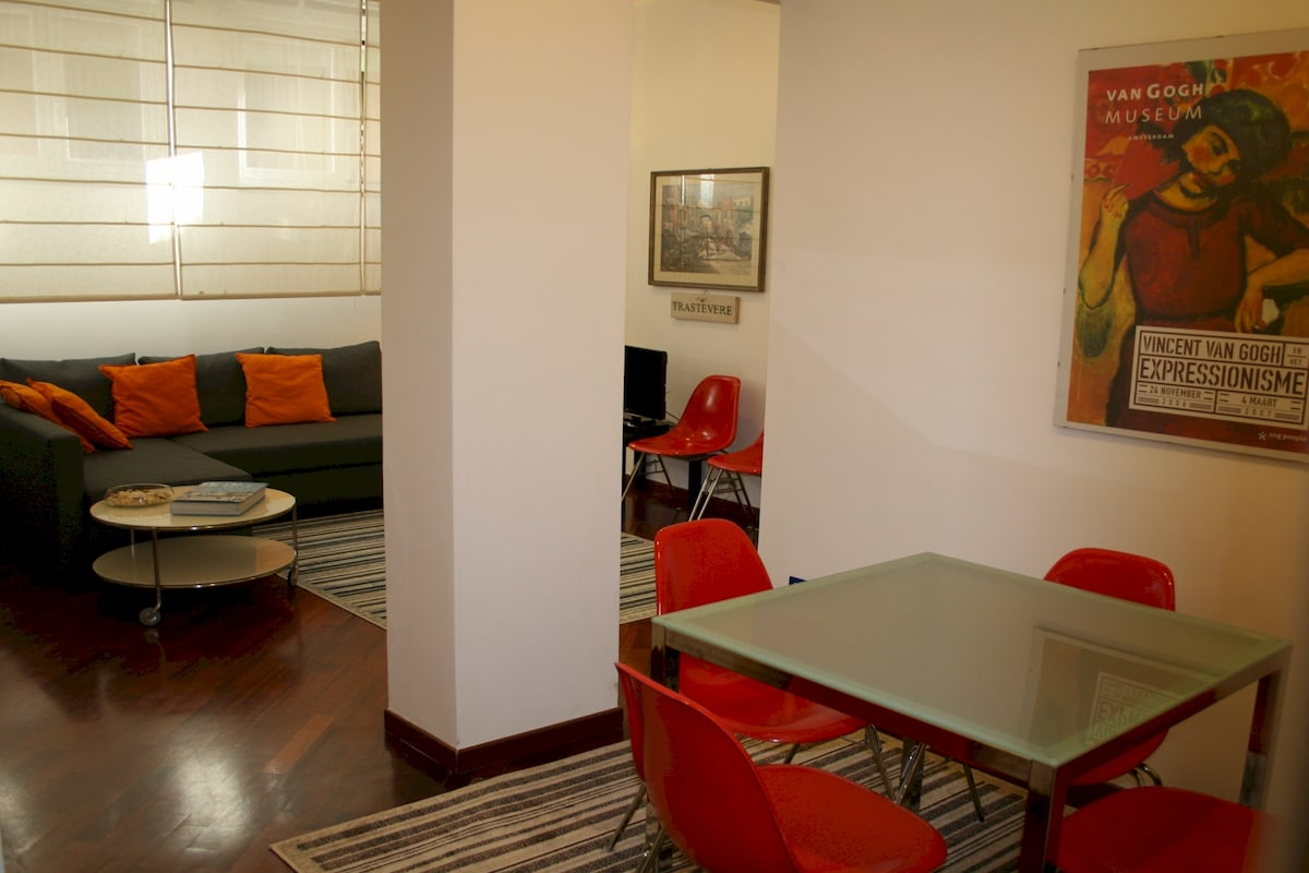 --  Dining area and lounge