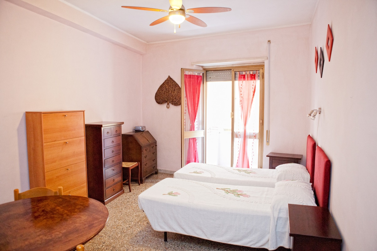 Bedroom 1:  two single beds or one king size bed and balcony.