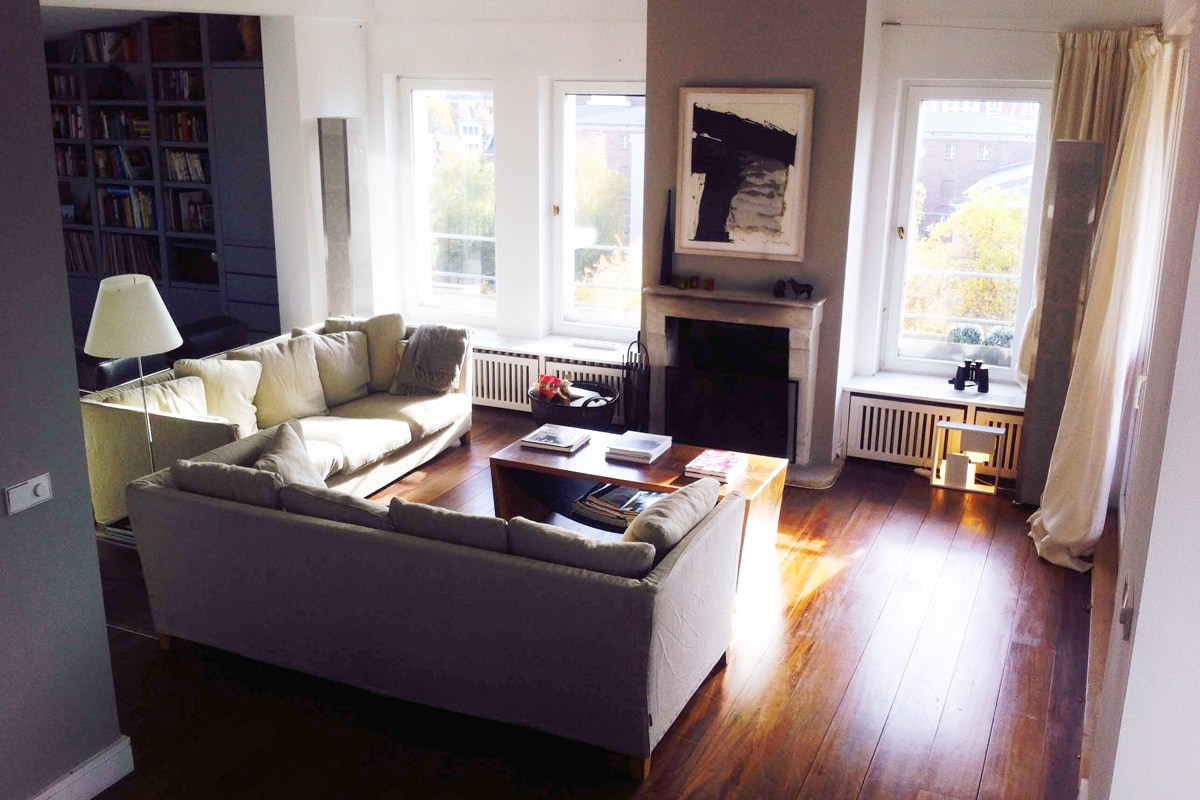 Cosy, relaxing atmosphere with fireplace and 270 ° degree view over Berlin