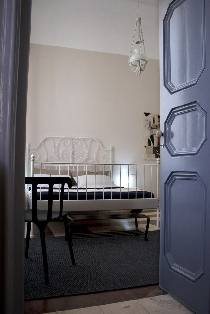 """""""Clay"""" is the main room, simple and elegant as the historic home style. The door is original nineteenth century"""