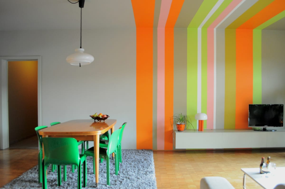 Colourful livingroom