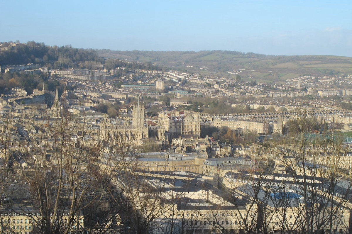 Lovely  room with views over Bath