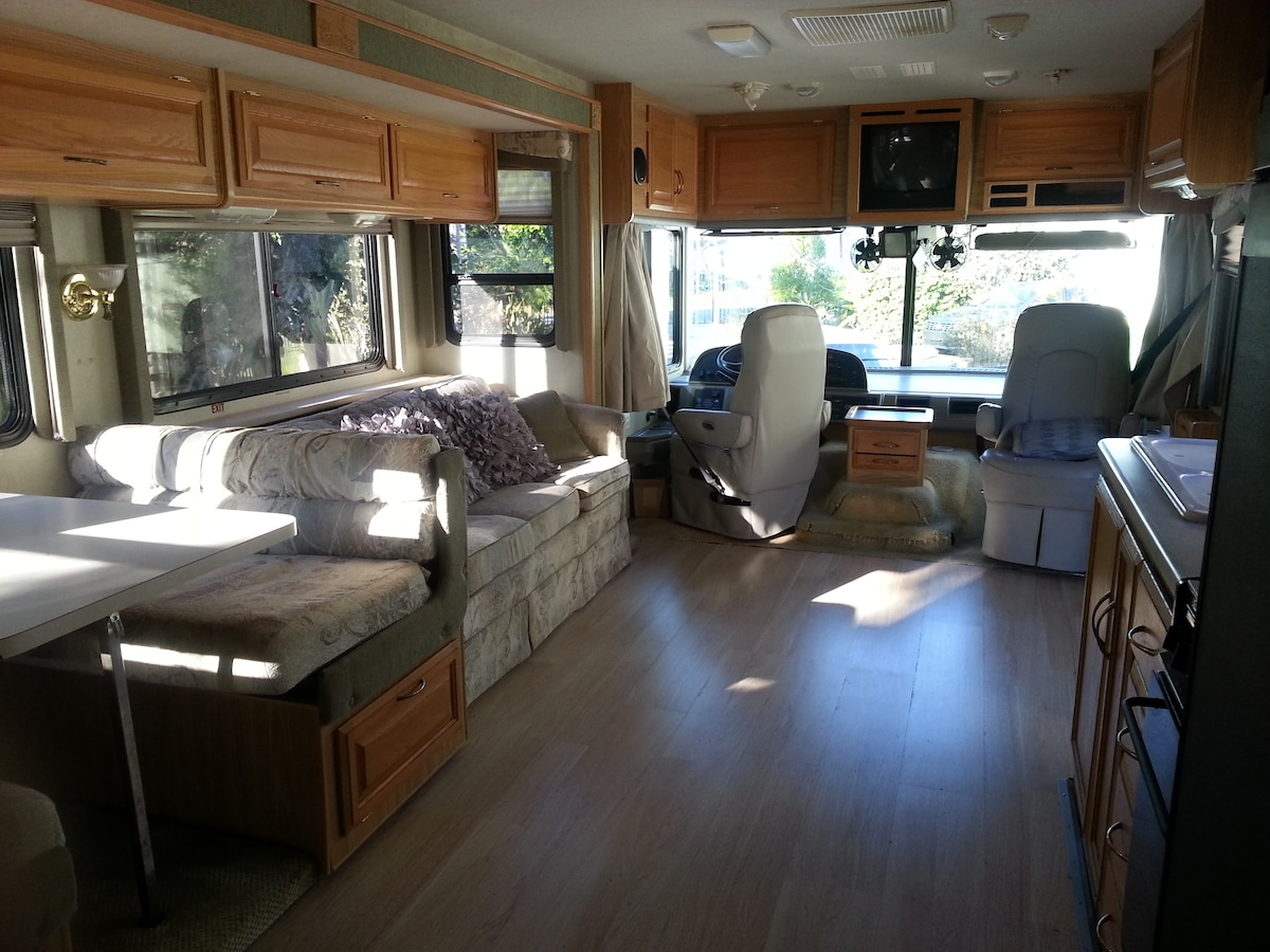 34 foot Class A RV in any park!