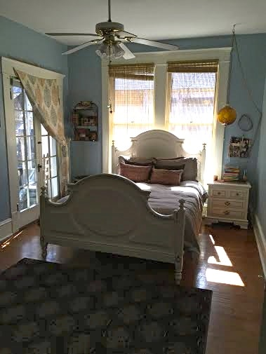 One of two bedrooms that may be available for rent