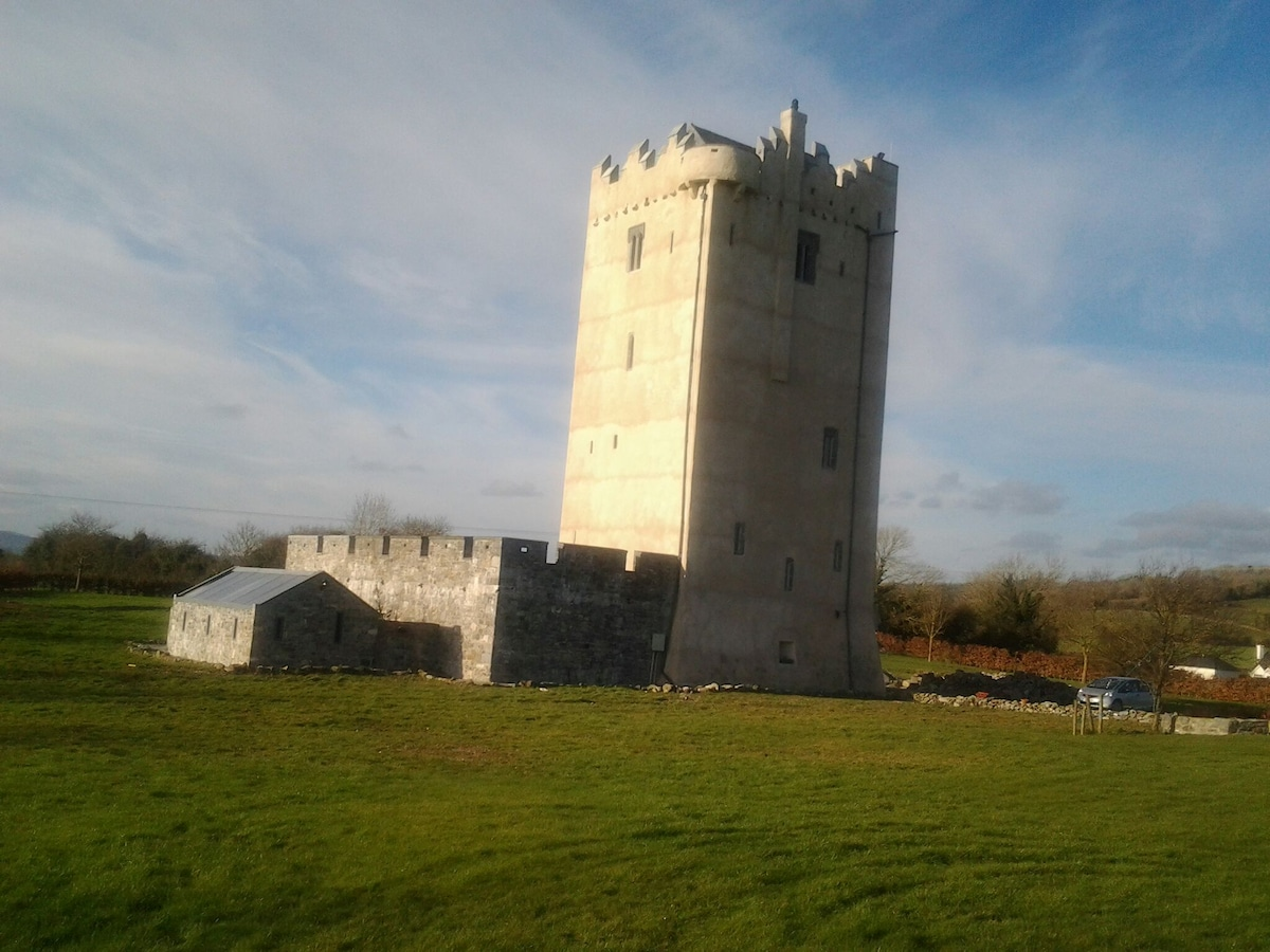 Sunshine on the newly rendered tower.