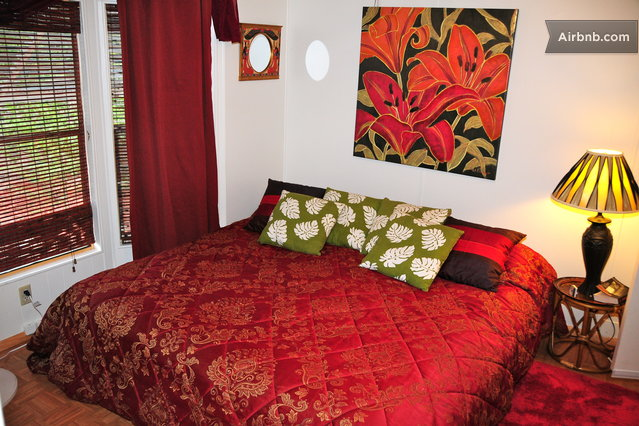 Enjoy an eastern king comfortable bed with fresh linens