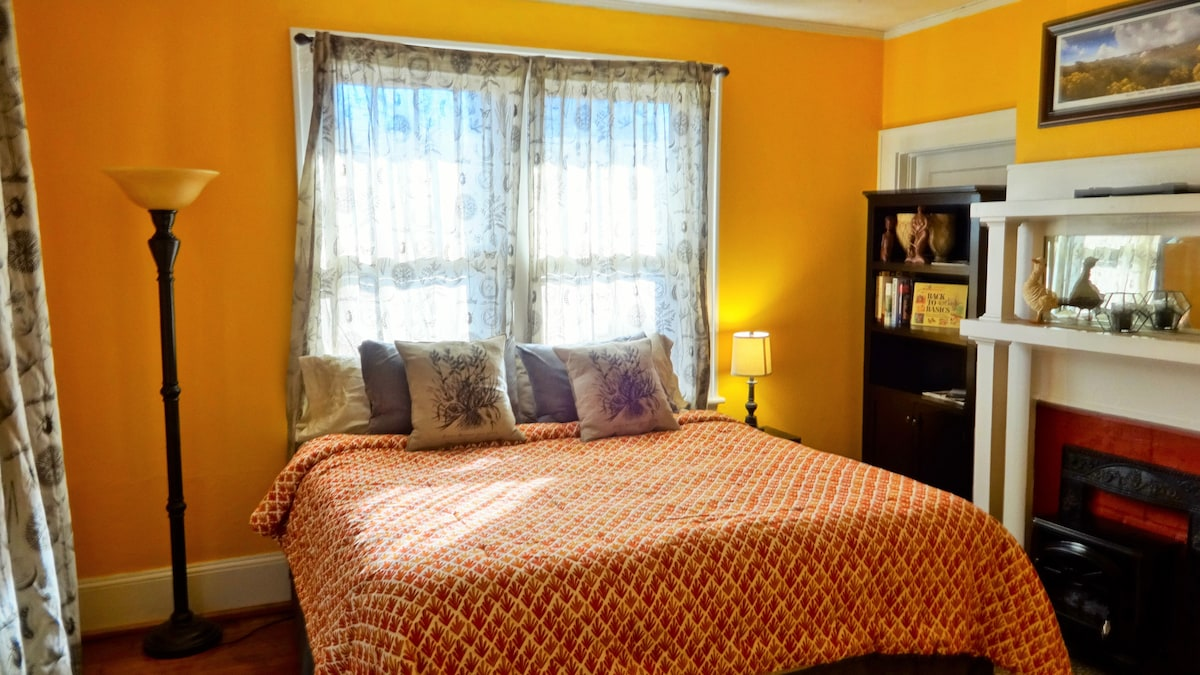 The Apiary Room hosts a comfortable King size bed.