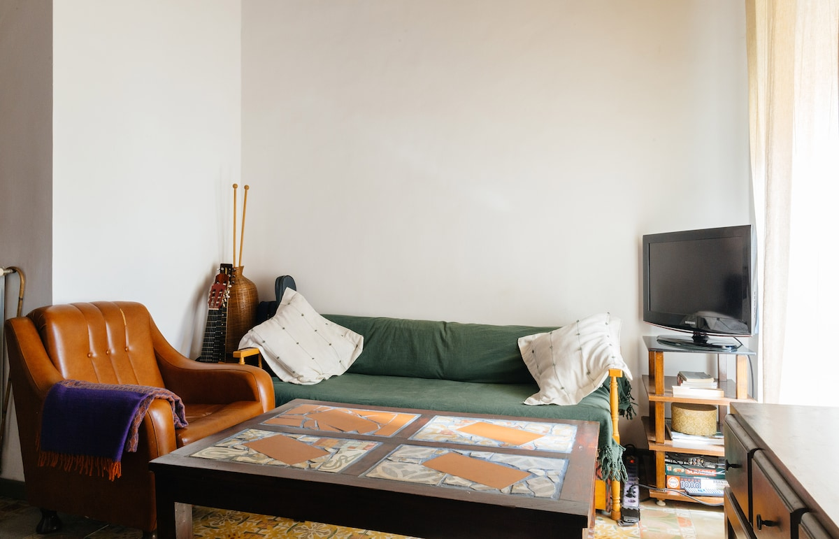 Living room. Thisi is a common space you can take advantage of.