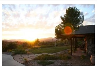 Front Yard at Sunset - Ojai is famous for The Pink Moment & this offers a great view of it each night.