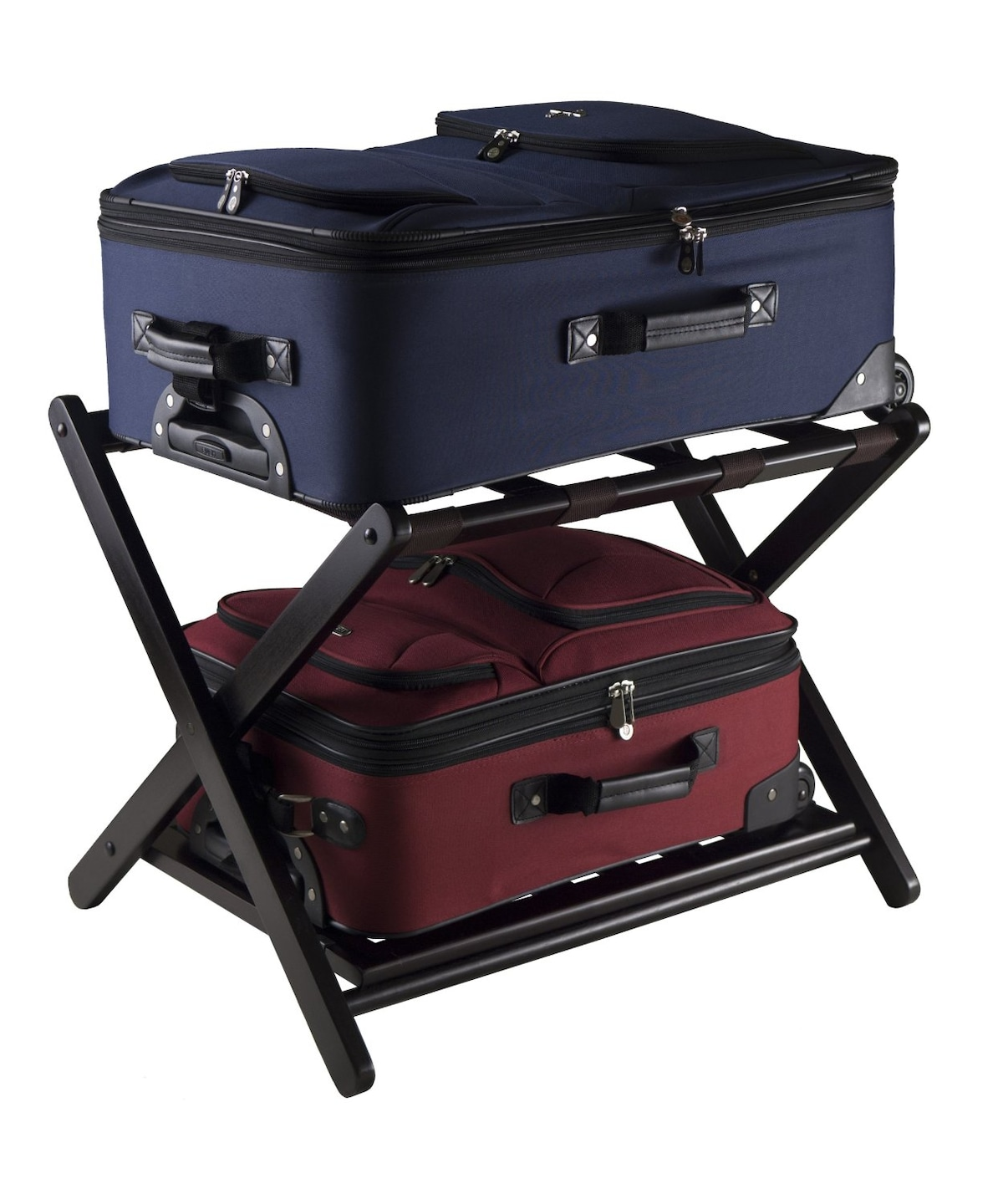 Double luggage rack for efficient storage and packing!