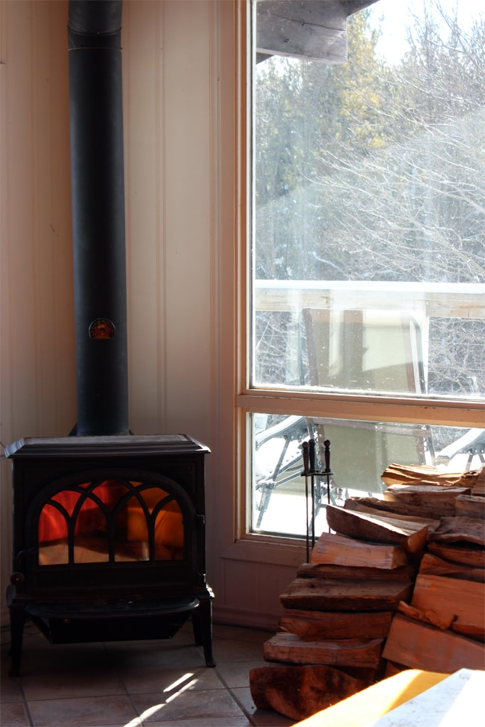 Cozy up to the fireplace