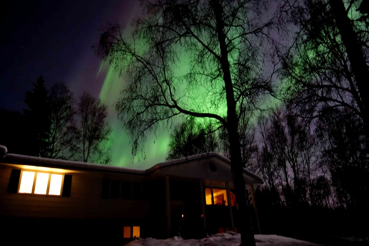 Aurora appears above in Spring