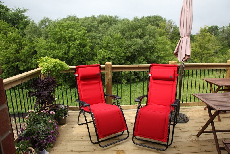 Patio deck chairs for two!