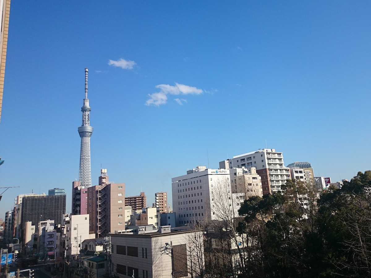Great view of Tokyo sky-tree!