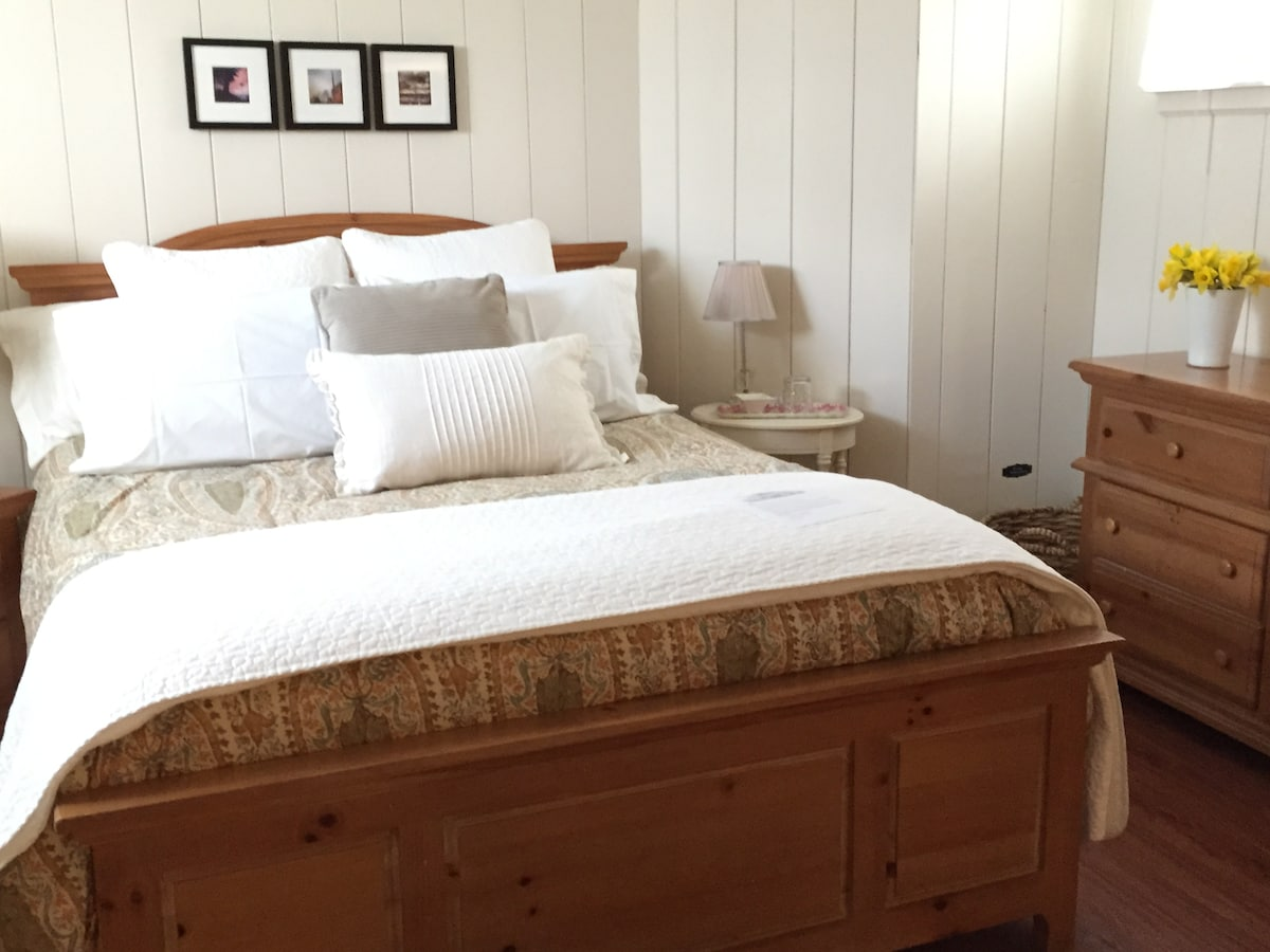 All bedding gets laundered for each guest. Including duvet and mattress pad.