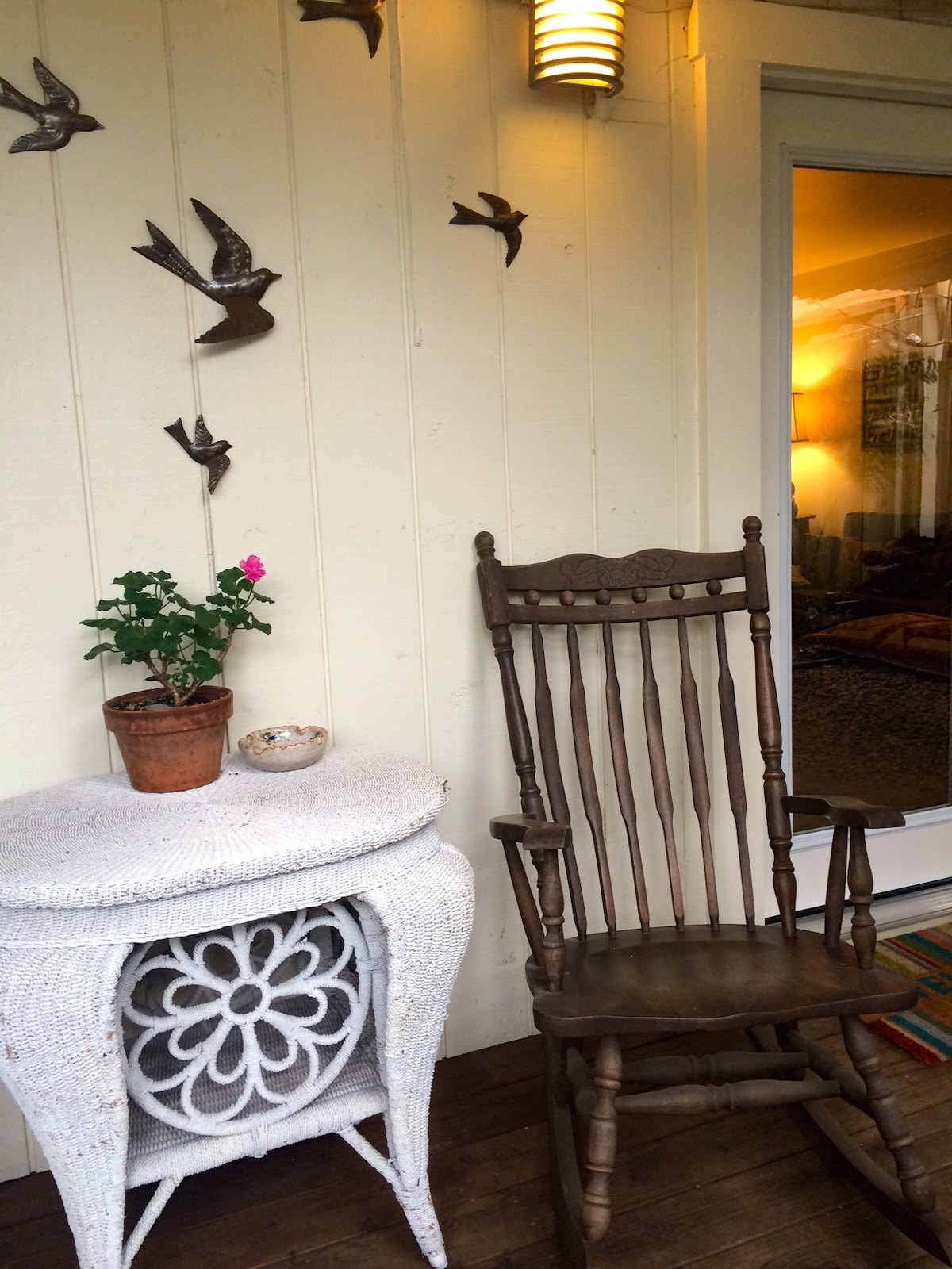 Outdoor seating, right outside your front door