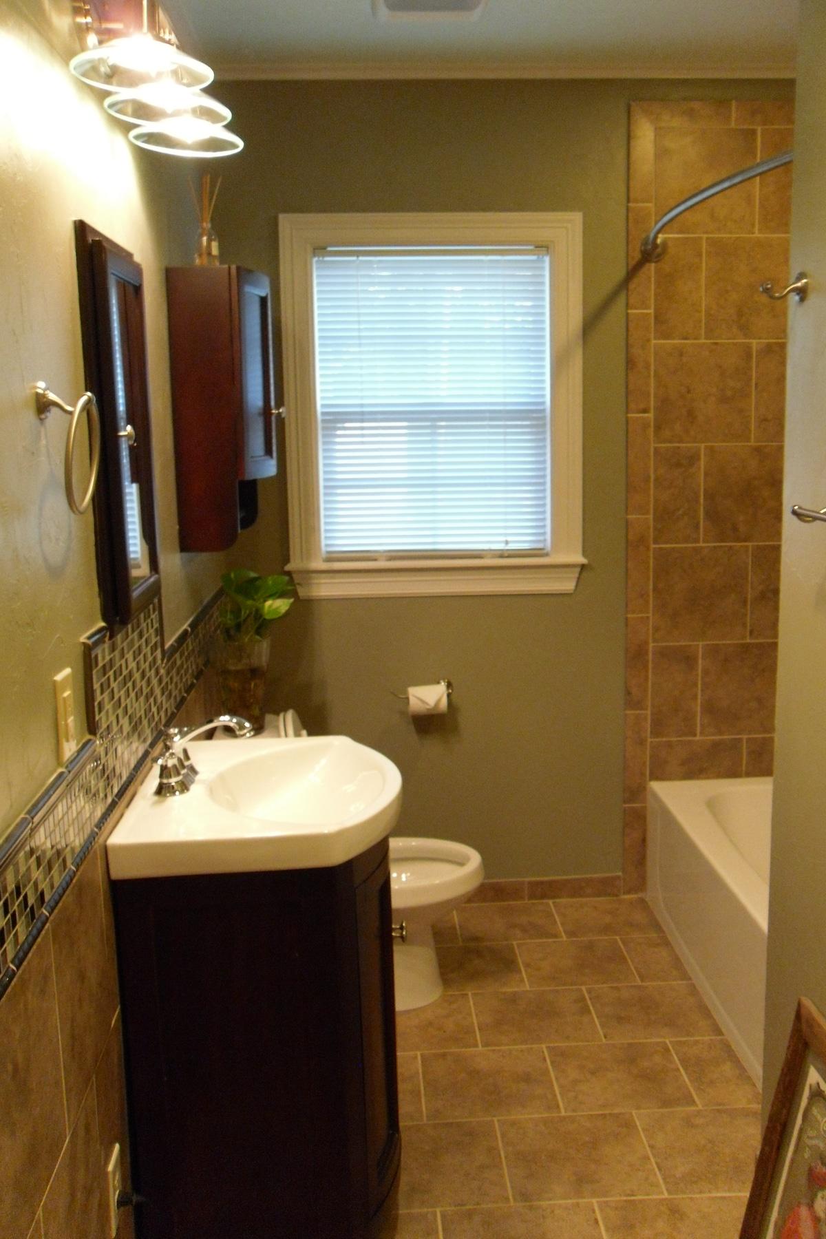 Clean accessible bathroom.