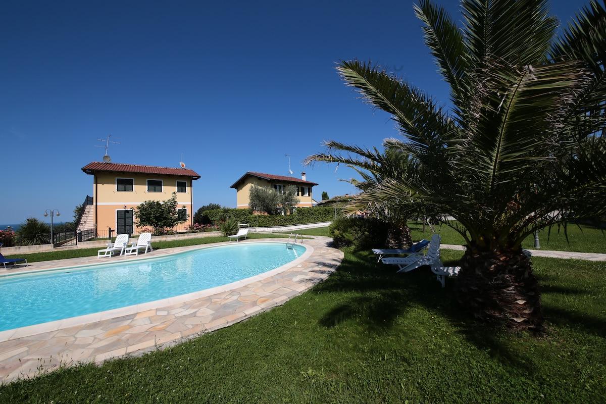 Villa on the hills sea overlooking