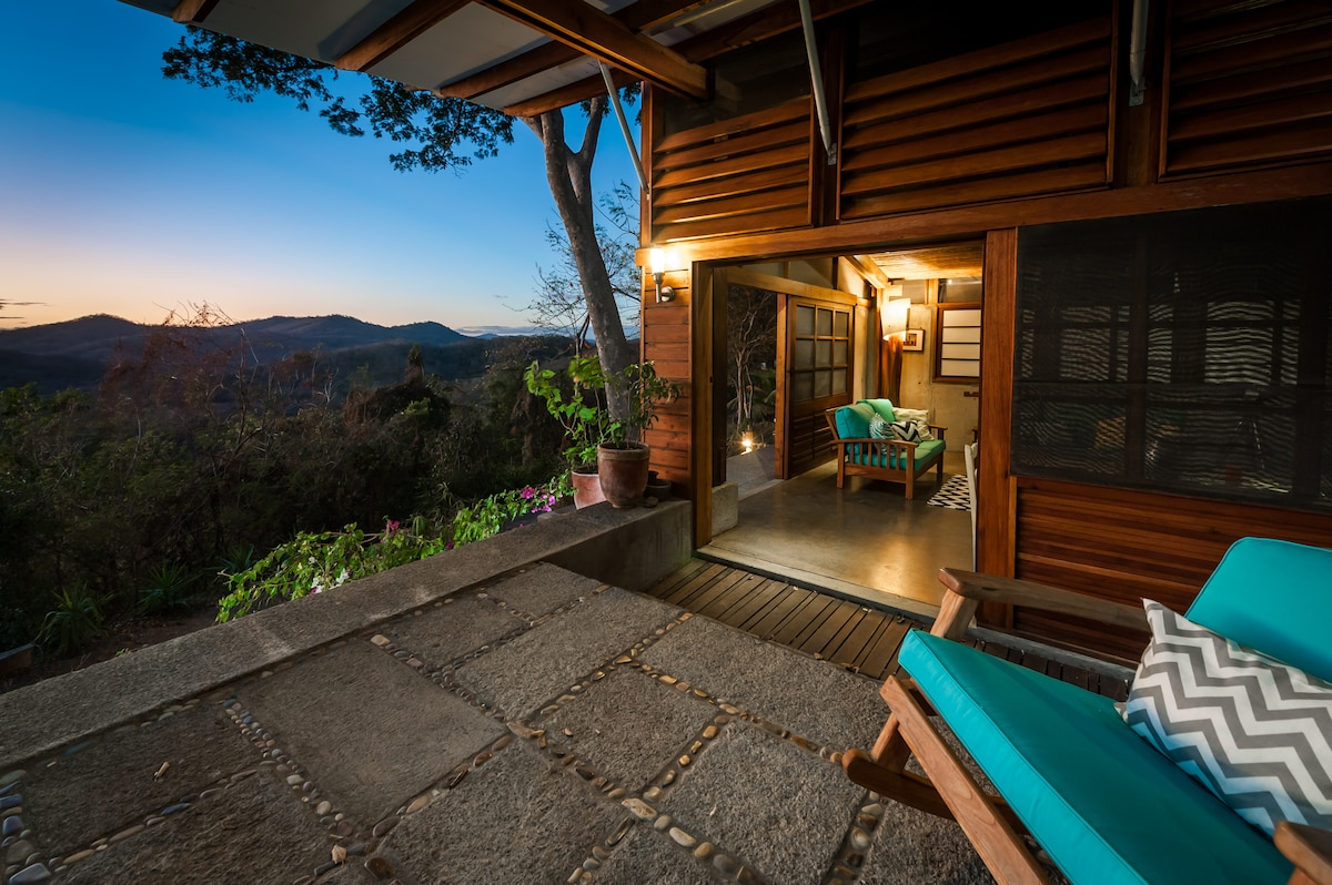 The front deck with jungle and ocean views