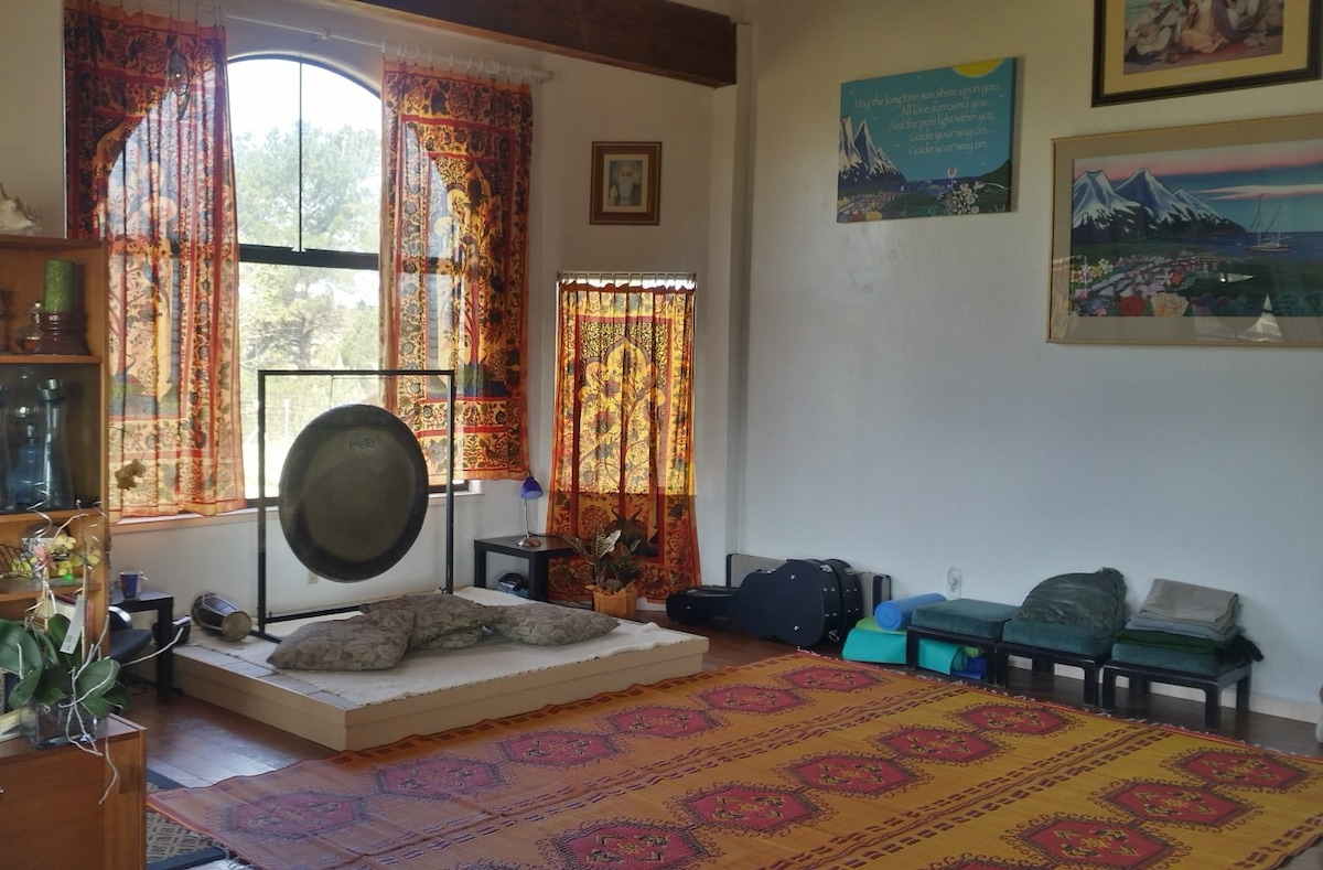 Do Sadhana in our Yoga Solarium With Gong (Morning)