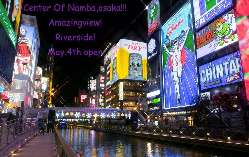 3 min from Nanba Stations!! Osaka!!