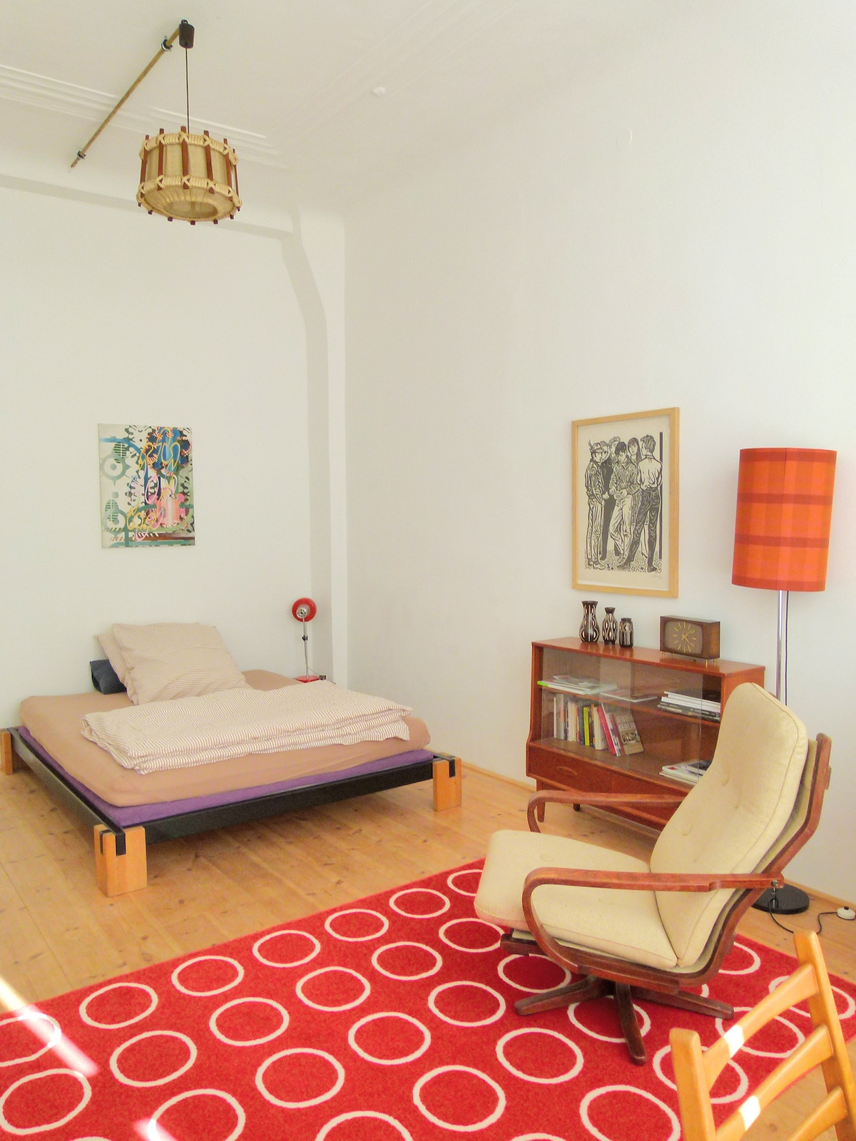 Large, comfortable bed, real art and fine design.