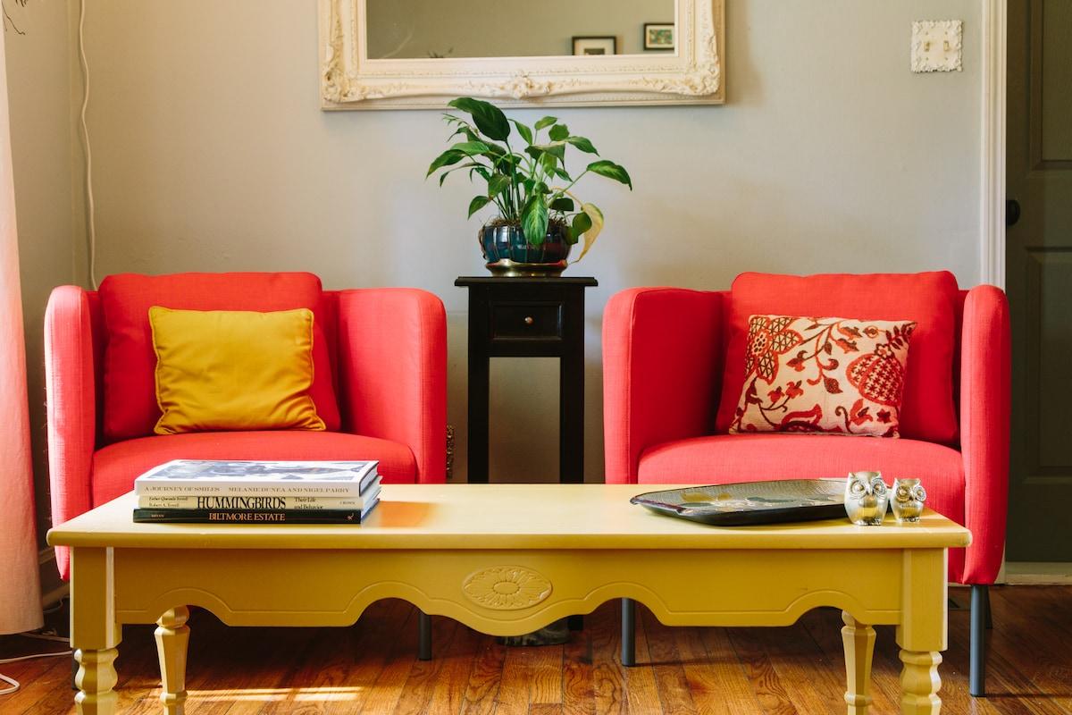Quiet+Comfy+Cozy Room in Charlotte