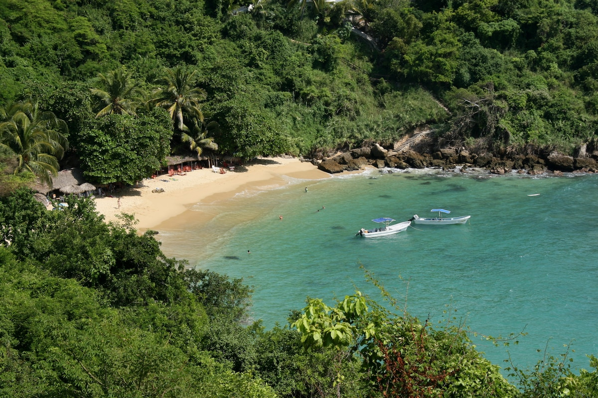 "Tranquility and nature, beautiful beach ""Carrizalillo"" only a short wal from the Villa Mozart y Macondo."