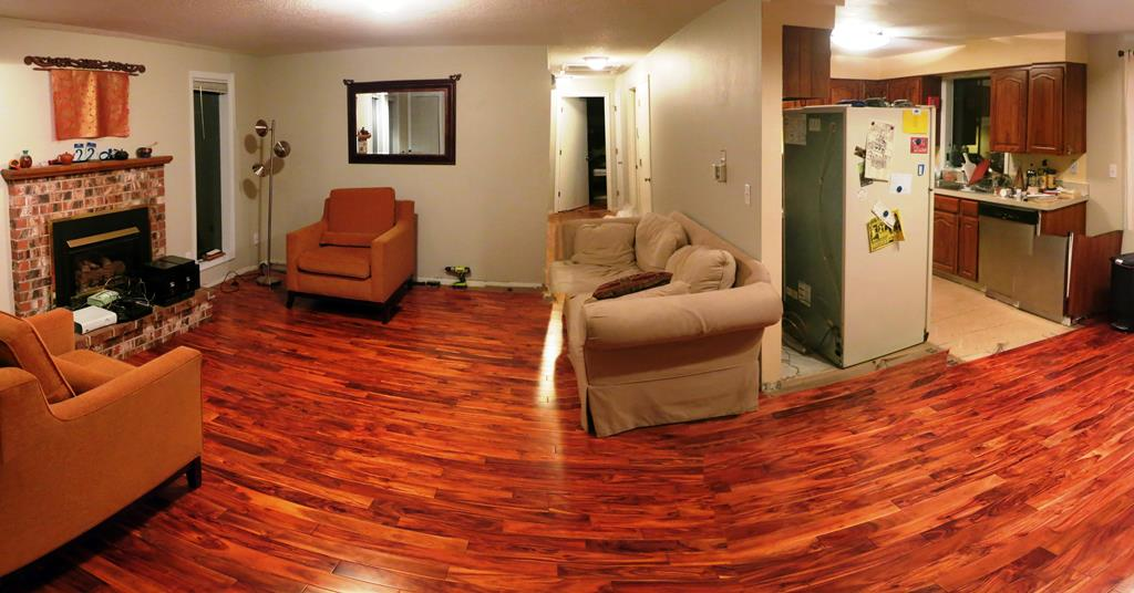New hardwood  floors are almost finished!