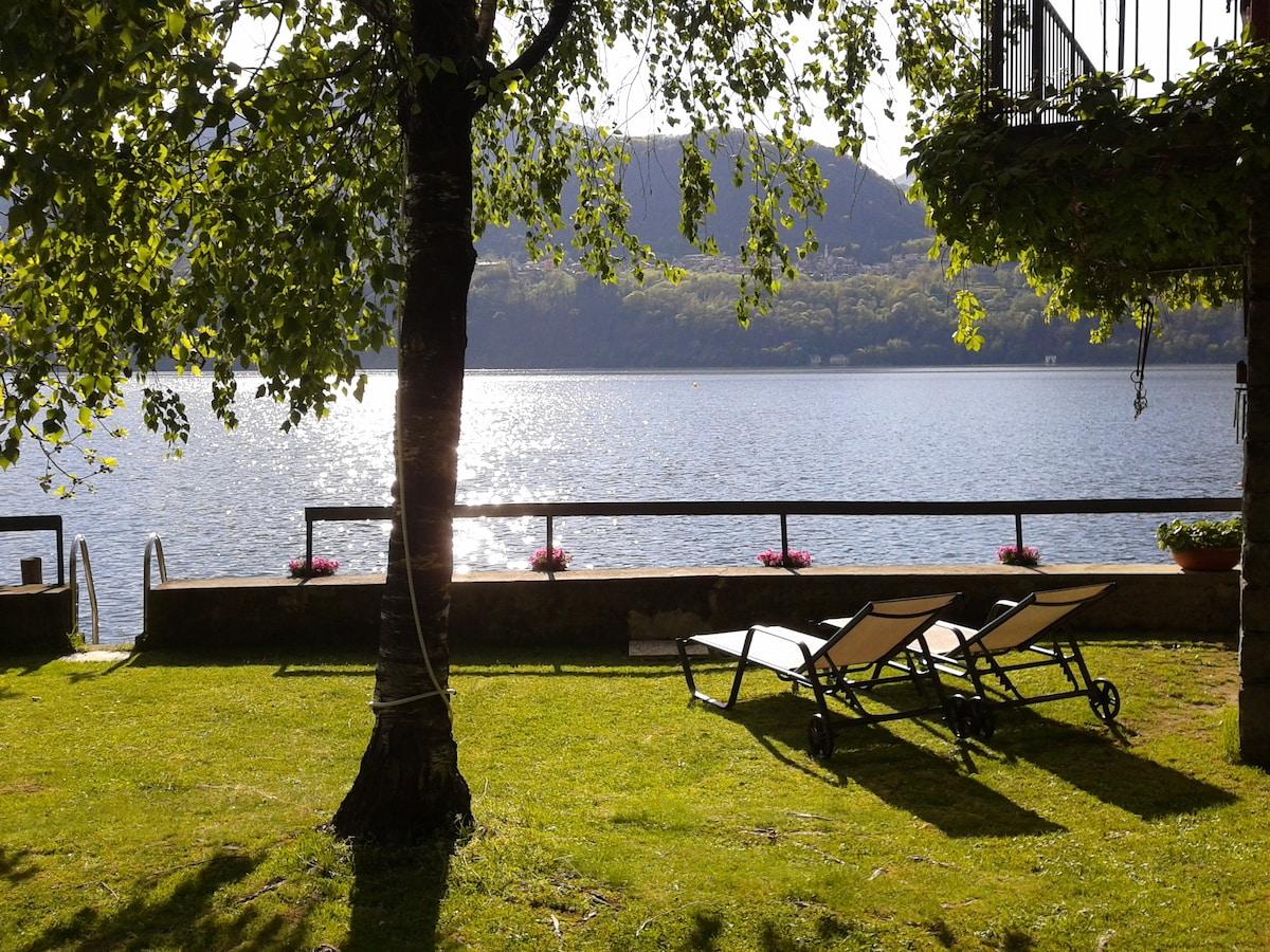 cozy studio overlooking the lake!