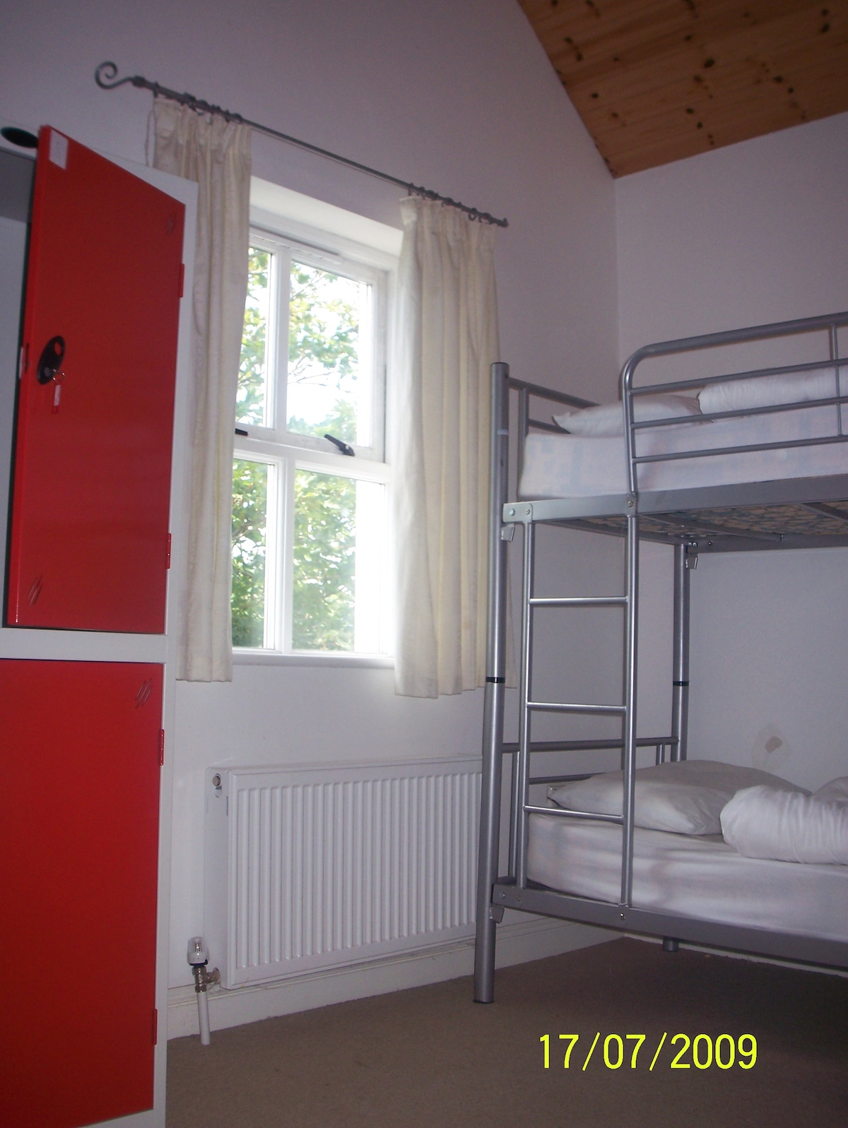 bed in the dormitory