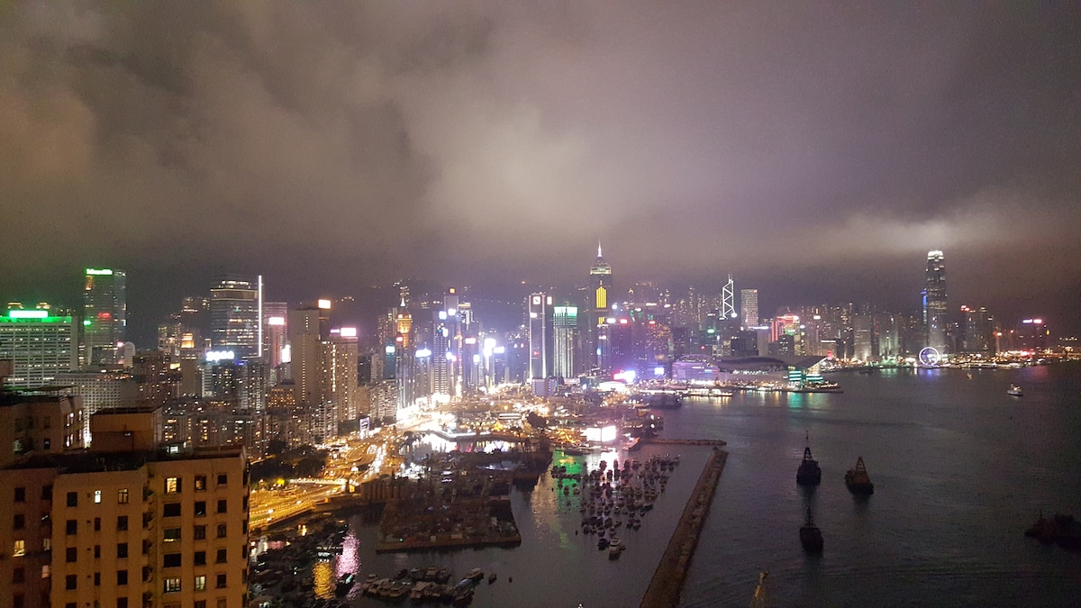 Amazing harbour view in Hong Kong