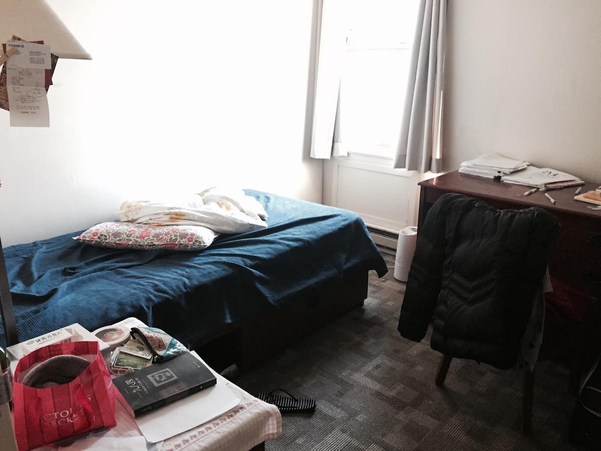 Cozy bed near Northwestern Campus