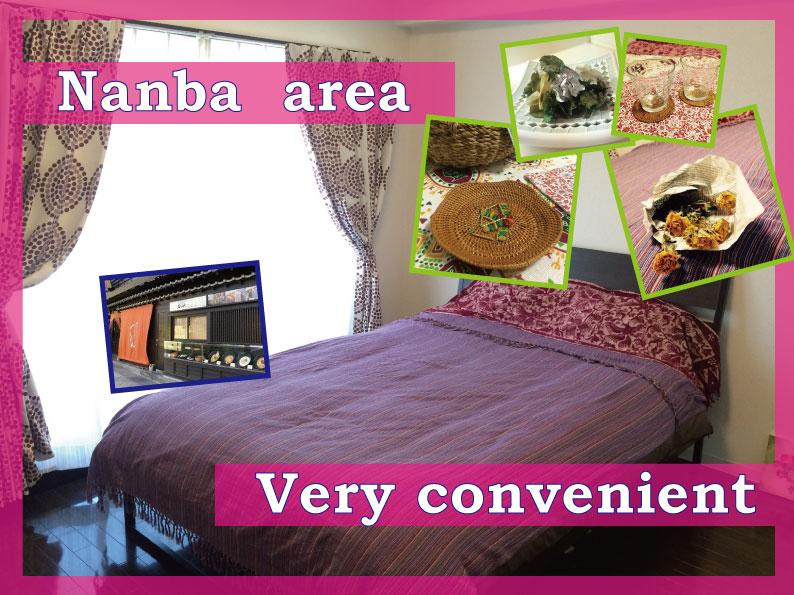 Nanba area! 3min walk to Dotonbori