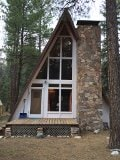 Cabin in the tall ponderosa pines