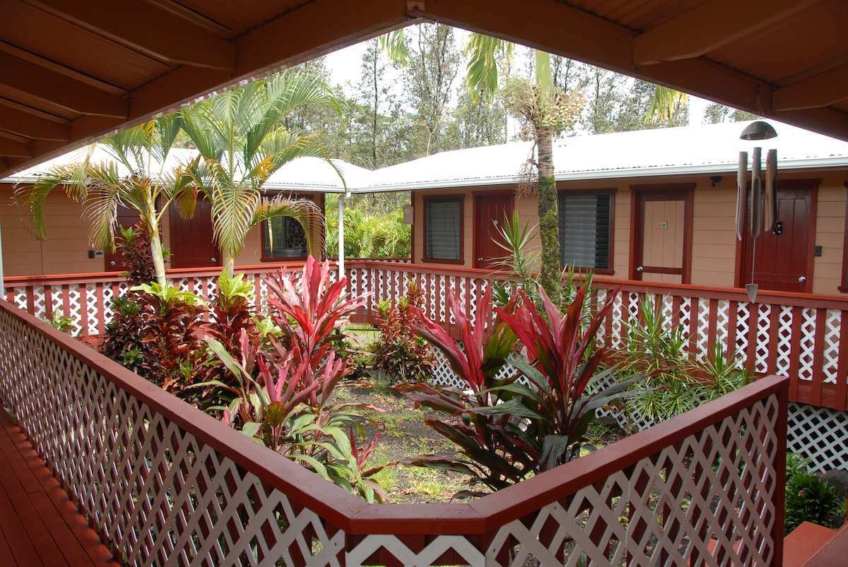 The 4 cottages houses 4 1/2 bedrooms/2 baths, laundry, living & dining rooms, lanai, kitchen ~