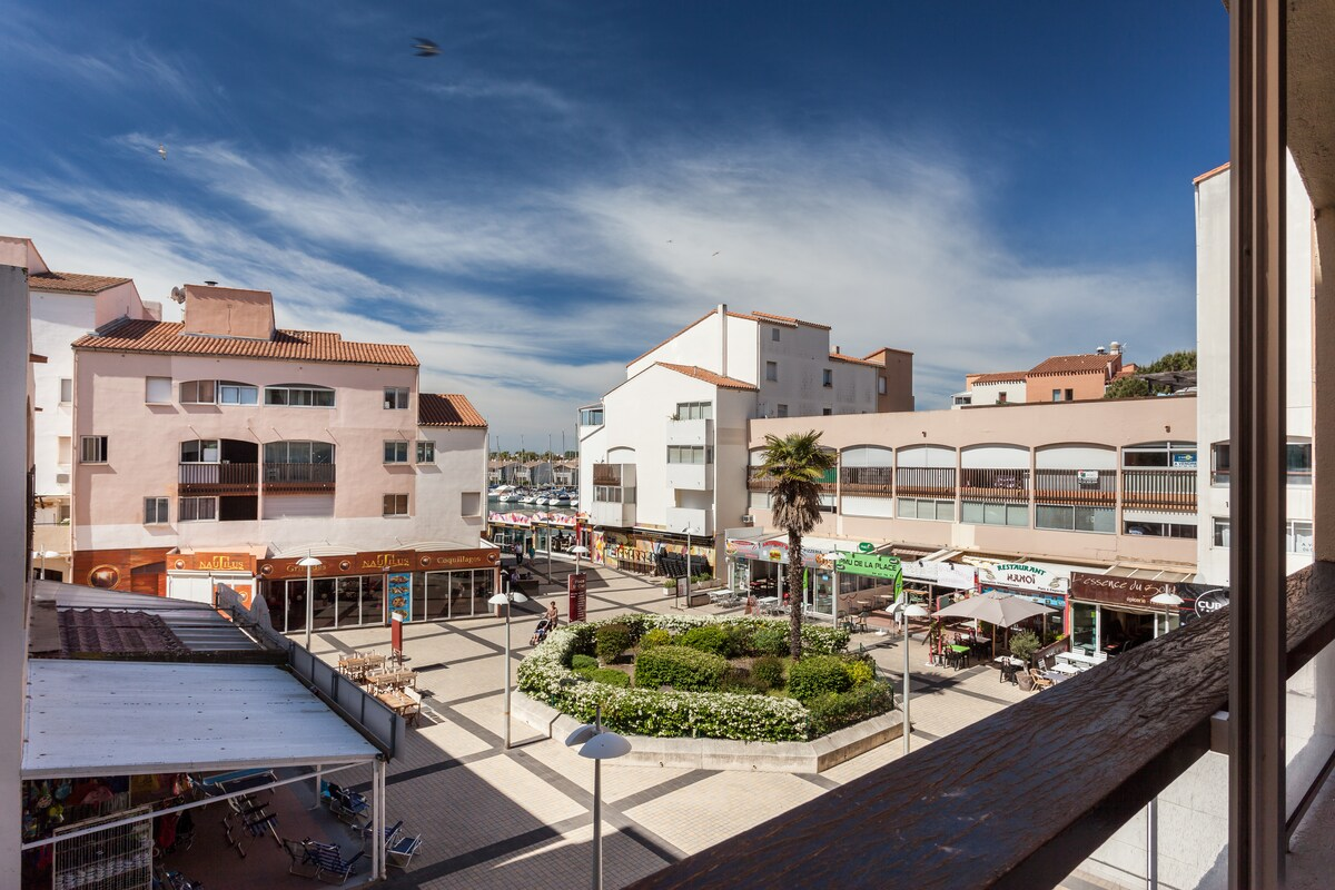 Studio centre port Cap d'Agde