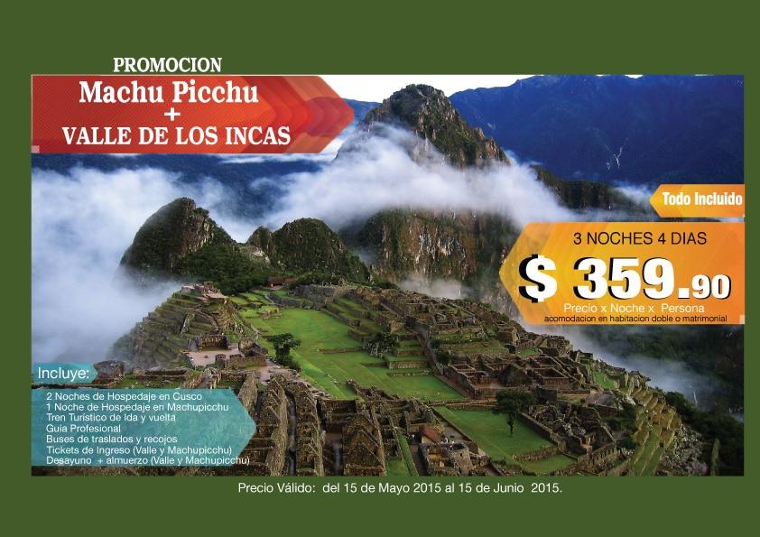 PROMOCION TOURS CUSCO - MACHUPICCHU