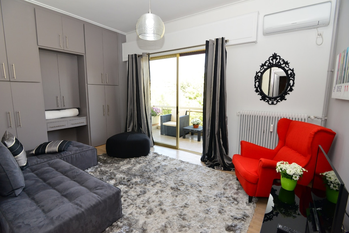 See Athens luxury apartment for 4
