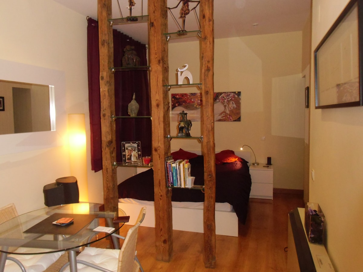 cosy and beautifully decorated studio apartment in the centre of Madird