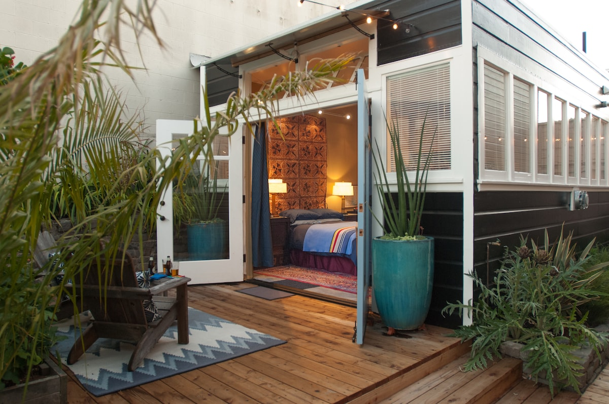 The Garden Cabana opens onto its private deck
