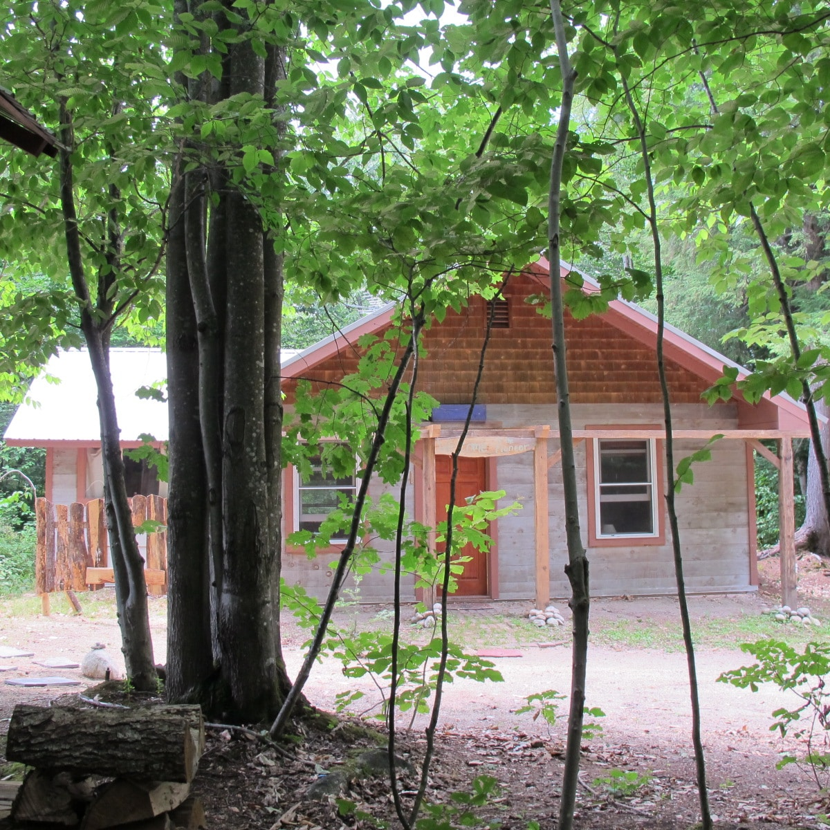 Our biggest eco-cabin complete with solar hot water, full kitchen, shower and indoor composting toilet.