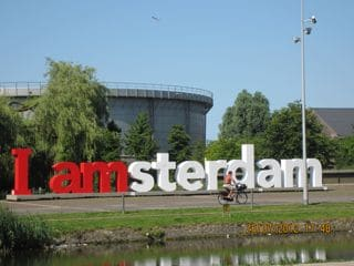Across the street & canal: Westerpark with lots of meeting places! WesterGasFabriek at 1 minute.