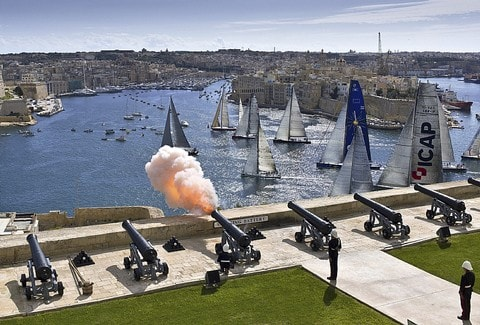 Annual Middle Sea Race Start Valletta Harbour