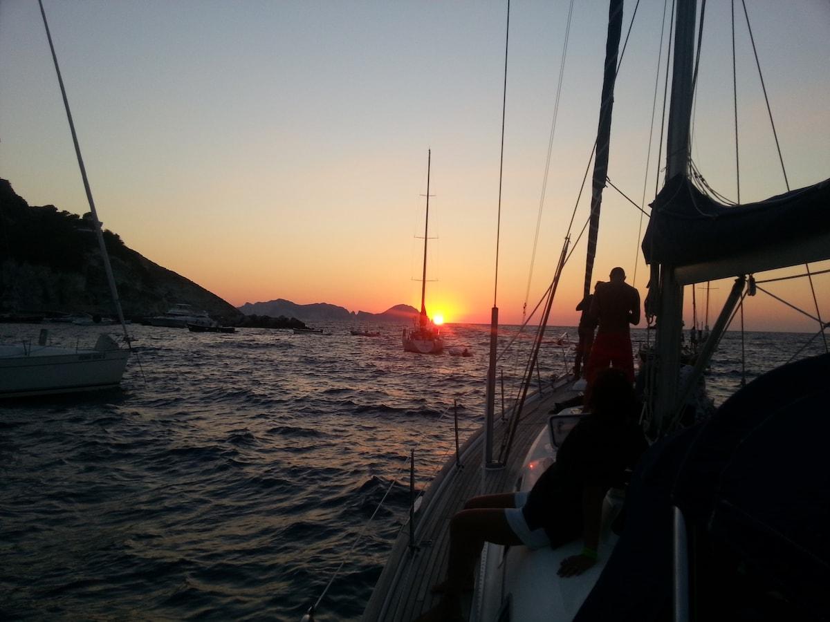 Charter in barca a vela Ponza