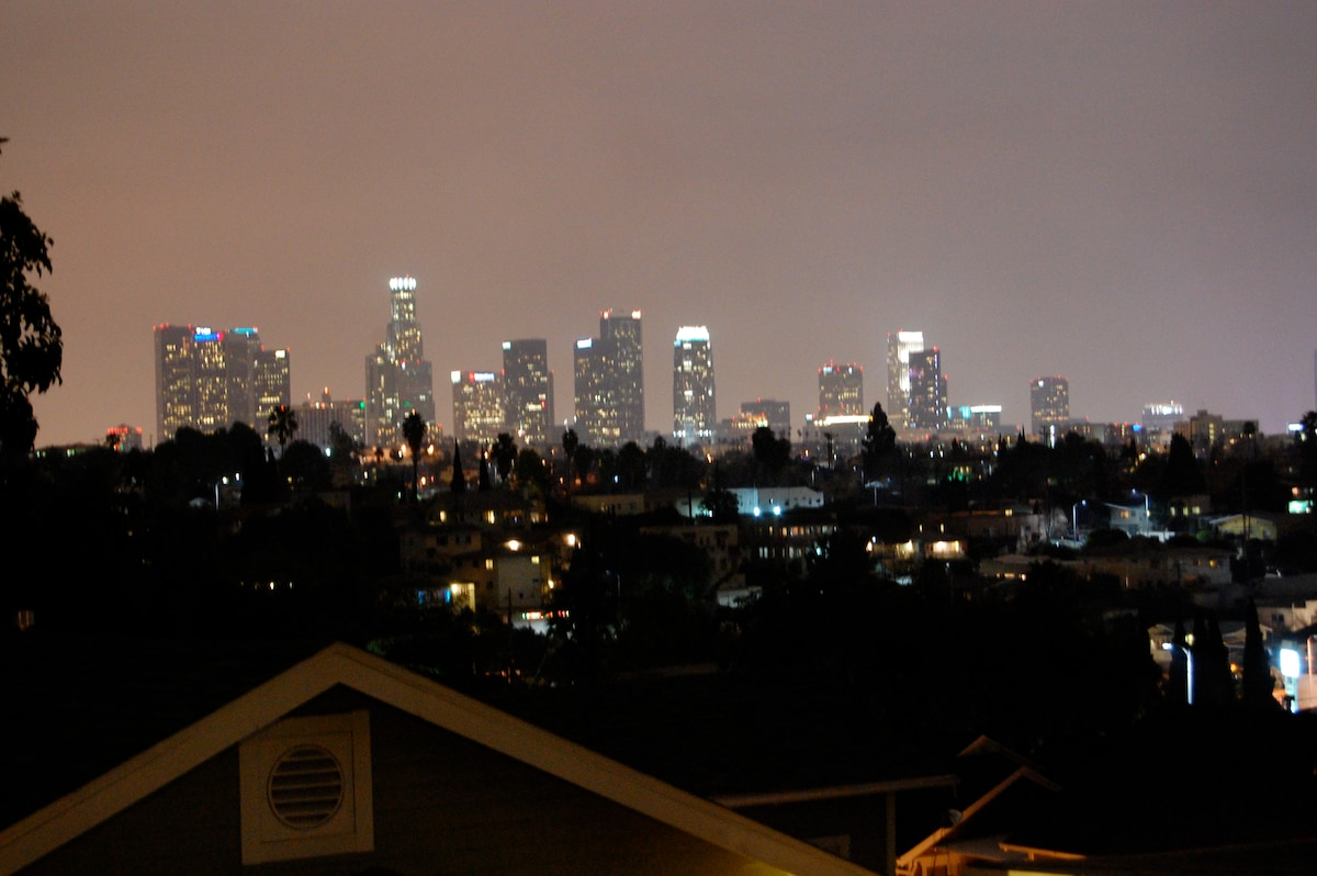 Nightime view of downtown LA